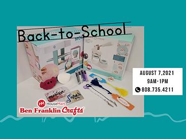 Ben Franklin Crafts Hosts Back-to-School Event